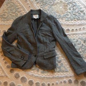 Grey cotton blazer from Loft